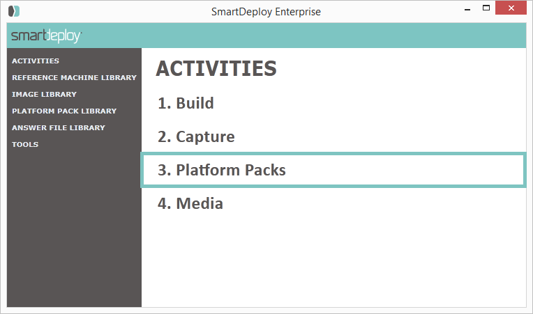 Platform Packs Activity