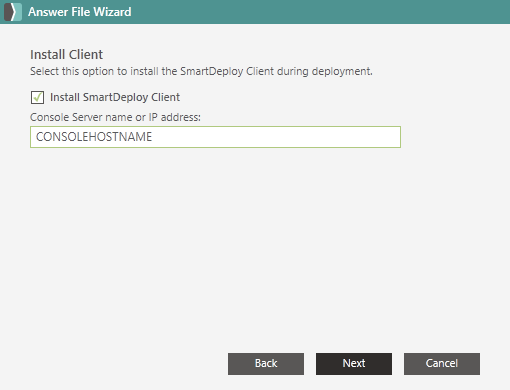 Install the SmartDeploy Client from the SmartDeploy Console