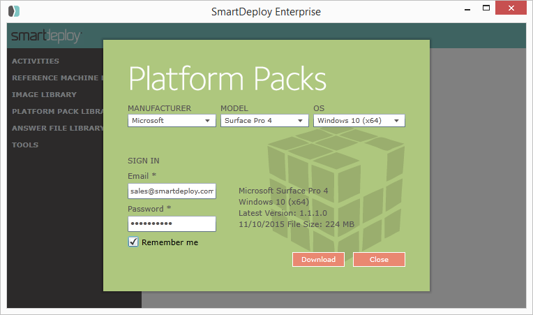 Download Platform Packs